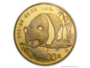 4442 investicni zlata mince cinska panda 1987 1 oz