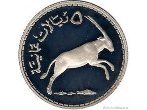 Stříbrná mince Omán 1977-antilopa Oryx