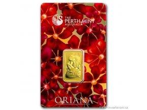 Investiční zlatý slitek Oriana -Austrálie Perth Mint 10g