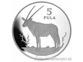 4457 stribrna mince antilopa 1978 botswana
