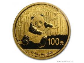 4466 investicni zlata mince cinska panda 2014 1 4 oz