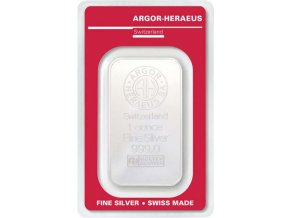 Investiční stříbrný slitek Argor Heraeus 1 Oz