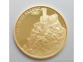 4481 zlata mince hrad bezdez 2016 proof serie hrady 1 2 oz