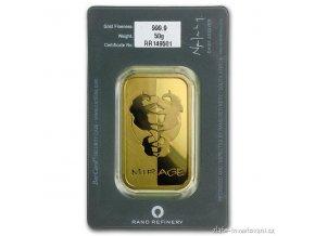 Investiční zlatý slitek Rand SA-Fata morgána 50g
