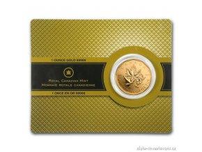 4499 investicni zlata mince kanadsky maple leaf 2007 1 oz