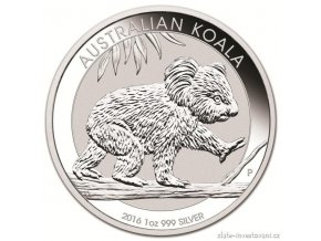 4505 investicni strbrna mince australska koala 2016 1 kg