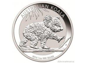 Investiční střbrná mince australská Koala 2016 1 Kg