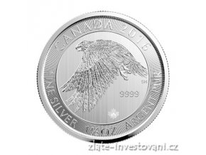 4535 investicni stribrna mince sokol 2016 kanada 1 5 oz