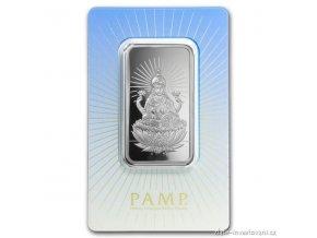 Investiční stříbrný slitek Lakšmí-PAMP 1 Oz