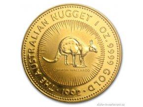 4559 investicni zlata mince australsky klokan 1992 nugget 1 oz