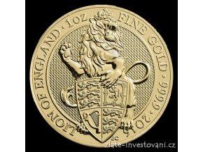 4589 investicni zlata mince lev kralovny anglie 2016 heraldicka serie 1 oz