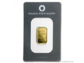 Investiční zlatý slitek Rand SA-Fata morgána 5g