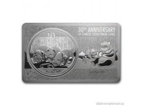 4694 stribrny set cinsky panda 2013 30 vyroci stribrne mince panda 3 oz