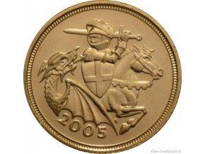 4706 investicni zlata mince britsky pul sovereign alzbeta ii 2005
