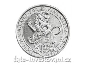 4712 investicni stribrna mince lev kralovny anglie 2016 2 oz