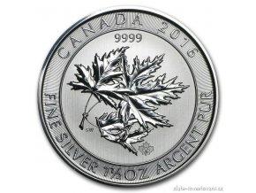 4718 investicni stribrna mince super leaf 2016
