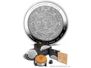 Stříbrná mince Aztécký kalendář 2011  1 Kg