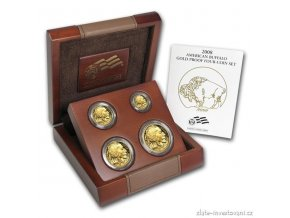 4814 zlaty investicni set buffalo proof 2008