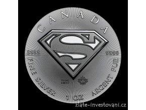 4832 investicni stribrna mince superman 2016 kanada 1 oz