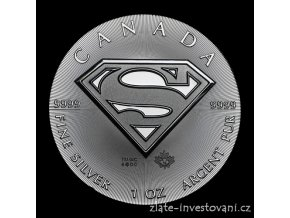 Investiční stříbrná mince Superman 2016-Kanada 1 Oz