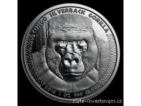 Investiční stříbrná mince Gorila 2016-Kongo