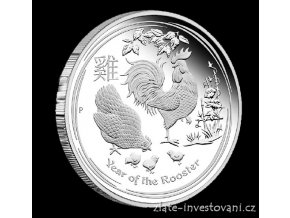 4880 investicni stribrna mince rok kohouta 2017 1 kg