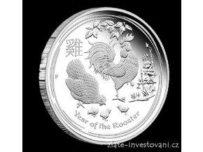 4889 investicni stribrna mince rok kohouta 2017 2 oz