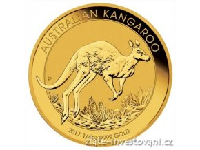 4928 investicni zlata mince australsky klokan nugget 2017 1 4 oz