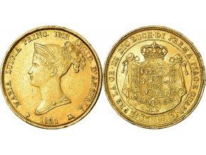 4952 zlata mince 40 lira marie louise rakouska parma 1821