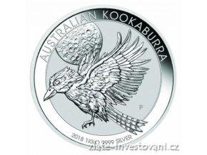 Investiční stříbrná mince australský Kookaburra 2018 1 Kg