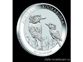 4967 investicni stribrna mince australsky kookaburra 2017 1 oz