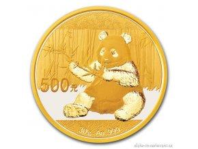 5000 investicni zlata mince cinska panda 2017 30g