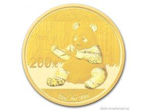 5009 investicni zlata mince cinska panda 2017 15g