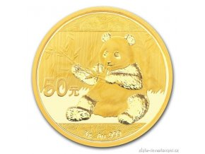 5015 investicni zlata mince cinska panda 2017 3g