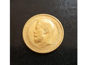 Zlatá mince ruský 7.5 rubl-car Nikolaj II. 1897