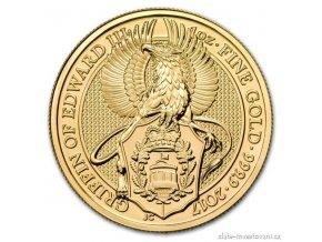 5036 investicni zlata mince griffin kralovny anglie 2017 heraldicka serie 1 oz