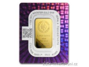 Investiční zlatý slitek rok Kohouta-Scottsdale-Argor 1 Oz