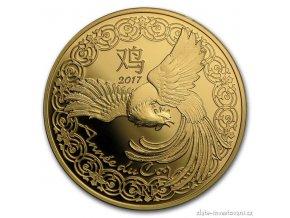 5093 zlata mince lunarni serie kohout 2017 francie