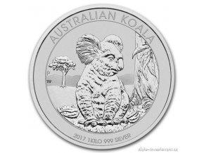 5111 investicni stribrna mince australska koala 2017 1 kg