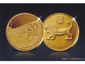 5162 zlata mince serie zlaty jeruzalem zapadni stena 2011 proof 1 oz