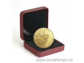 5168 1 zlata mince jelen wapiti 2017 proof 200 dolaru 1 oz