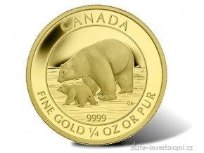 5174 zlata mince 10 dollaru ledni medved 2014 proof