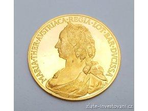 5183 zlata dukatova medaile marie terezie ctyrdukat novorazba 1970