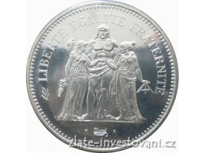5195 stribrna mince 50 frank herkules 1974 1980