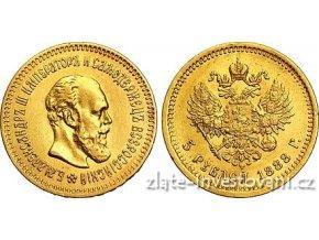 5198 zlata mince rusky 5 rubl car alexandr iii 1888
