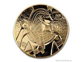 Investiční zlatá mince Tutanchámon 2017-Čad 1 Oz