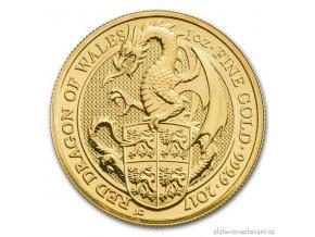 5213 investicni zlata mince drak kralovny anglie 2017 1 4 oz
