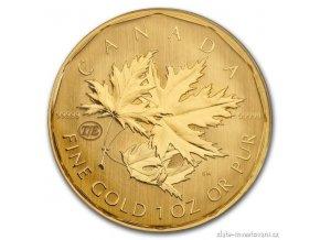 5219 investicni zlata mince kanadsky maple leaf experimentalni razba 1 oz