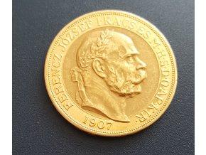 5222 zlata mince stokoruna frantiska josefa i 1907 40 vyroci korunovace