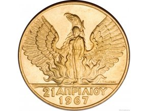 5234 zlata mince 100 drachma constantine ii 1967 kb